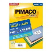 Etiqueta Pimaco Inkjet + Laser - A4370-P 12340