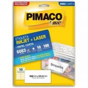 Etiqueta Pimaco Laser 100 Un 50.8X101.6Mm 6083 00107
