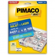Etiqueta Pimaco Laser 21,2X38,2Mm Com 1625 Un A4251 02173