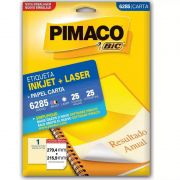 Etiqueta Pimaco Laser 25 Un 279.4X215.9Mm 6285 00079