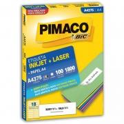 Etiqueta Pimaco Laser 32,83X104,5Mm Com 1800 Un A4375 12341