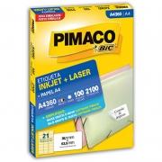 Etiqueta Pimaco Laser 38,1X63,5Mm Com 2100 Un A4360 08093