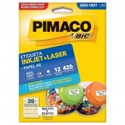 Etiqueta Pimaco Laser 420 Un. 12Fls 18X37Mm A5Q-1837 02190