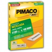 Etiqueta Pimaco Laser (6180) Reciclada 3000 Un 25,4X66,7mm 3180 17193