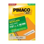 Etiqueta Pimaco Laser (6181) Reciclada 2000 Un 25,4X101,60mm 3181 17194