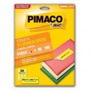 Etiqueta Pimaco Laser Amarela Fluorescente 150 Un 25.4mm X 66.7mm 5580A 02154