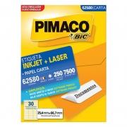 Etiqueta Pimaco Laser Com 7500 Un 25.4X66.7Mm 62580 02149