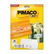 Etiqueta Pimaco Metalizada Carta 25,4X66,7mm 5 Un. 1580 18510