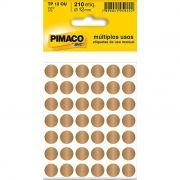 Etiqueta Pimaco Tp 12 Ou Ouro Redonda 14429