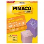 Etiqueta Pimaco Transparente 279,4X215,9 Com 10 Un 0085 05861