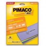 Etiqueta Pimaco Transparente Com 10 Fls 25,4X66,7 0080 05845