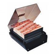 Fichário de Mesa Fumê com Indice 3X5 M74 Menno 02303