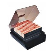 Fichario de Mesa comIndice Menno Cartão/Endereco Fume M74 02302
