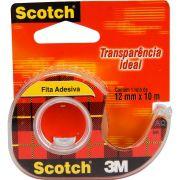 Fita Adesiva Scotch® Transparente com Suporte 12 mm x 10 m e Display 27298
