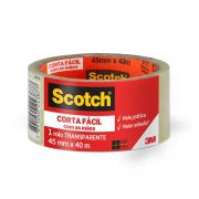 Fita de Empacotamento Scotch® Corta Fácil 45 mm x 40 m 25654
