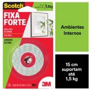 Fita Dupla Face 3M Fixa Forte Areas Umidas 24mm X 1,5m 24665