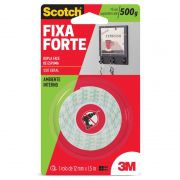 Fita Dupla Face Fixa Forte 500g 12mm X 1,5m 3M Scotch 10149
