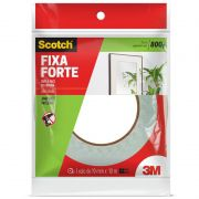 Fita Dupla Face 3M Scotch® Fixa Forte Espuma - Uso Interno - 19 mm x 10 m 12589