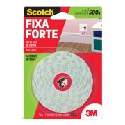 Fita Dupla Face 3M Scotch® Fixa Forte Espuma - Uso Interno - 12 mm x 5 m 09255