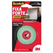 Fita Dupla Face 3M Scotch® Fixa Forte Fixação Extrema - 24 mm x 2 m 22392