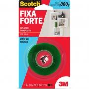 Fita Dupla Face 3M Scotch® Fixa Forte Transparente - Uso Interno - 19 mm x 2 m 21982