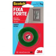 Fita Dupla Face Fixa Forte 1kg 25mm X 2m 3M Scotch 21983