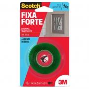 Fita Dupla Face 3M Scotch® Fixa Forte Transparente - Uso Interno - 24 mm x 2 m 21983