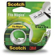 Fita Mágica 810 12mm X 10m Com Dispensador 3M Scotch 02256