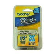 Fita Para Rotulador Brother  M131 12Mmx8M, Preto/Transparente 24692