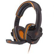 Fone Headset Target OEX USB HS203 Preto / Laranja 506401 25462