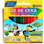 Giz de Cera Acrilex Estojo Com 12 Cores 9012 04893