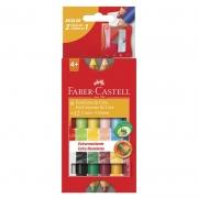 Giz de Cera Ecogiz 12 Cores Bicolor HT141412 Faber-Castell 16674