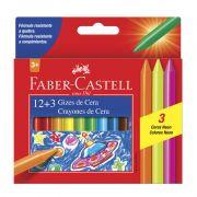 Giz de Cera Faber-Castell Fino 15 Cores HT141015 21893