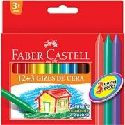 Giz de Cera Faber-Castell Fino 15 Cores Ref:Ht141015 21893