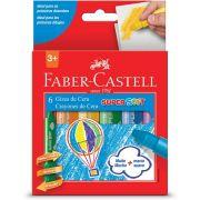 Giz de Cera Super Soft Faber-Castell 6 Cores 181401Bb 18169