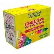 Giz Escolar Plastificado Antialergico Delta Color 50 Un 0031 27405