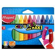 Gizão de Cera 12 Cores Color'Peps Wax Maxi 861311 Maped 21092