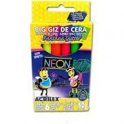 Gizão de Cera Acrilex Estojo 6 Cores Neon 09806 25022