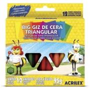 Gizão de Cera Acrilex Triangular Estojo Com 12 Cores 09312 22418