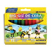Gizão de Cera Estojo 12 Cores 09111 Acrilex 04891