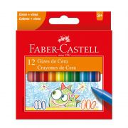 Gizão de Cera Faber-Castell Jumbo 12 Cores 141012N 27569