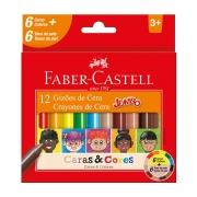 Gizão de Cera Faber-Castell Jumbo 12 Cores Caras e Cores 141112CC 27632
