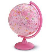 Globo Terrestre 25Cm Tecnodidattica Giacomino Pink Zoo Iluminado 29236