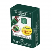 Grafite 0.5mm HB Fino 12 Tubos TMG05HB Faber-Castell 27369