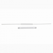 Grampo Plástico Estendido Dello Fix Branco Com 50 Un. 15674