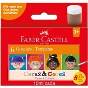 Guache Faber-Castell Caras e Cores 6 Cores 161106Cc 28052