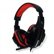 Headset Gamer Multilaser P2 Preto / Vermelho Cabo Nylon PH120 29728