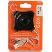 Hub USB Oex Hb100 Preto 488000 25394