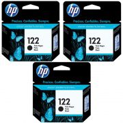 Kit Cartucho HP 122 Preto (3 Un.) Original