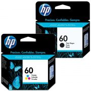 Kit Cartucho HP 60 Colorido Original + Cartucho HP 60 Preto Original